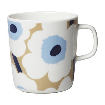 Unikko Mug - Large - Beige/White/Blue