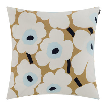 Pieni Unikko Pillow Cover - 50x50cm - Beige/White/Blue