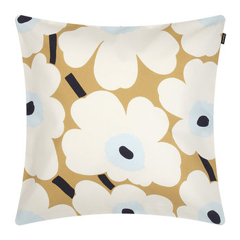 Pieni Unikko Cushion Cover - 50x50cm - Beige/White/Blue