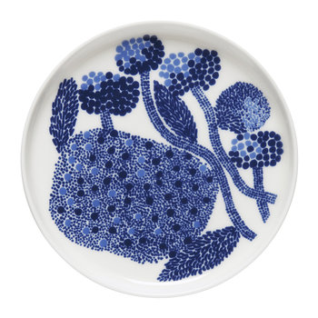Oiva/Mynsteri Plate- White/Blue
