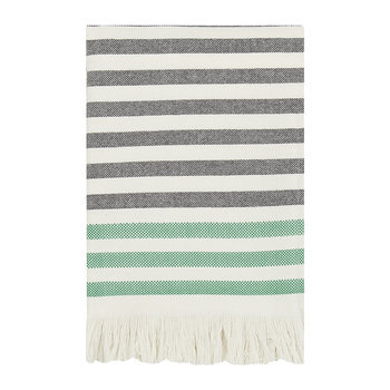 Tasaraita Towel - Ecru/Black/Green