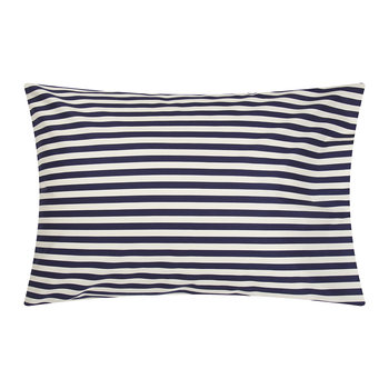 Tasaraita Pillowcase - White/Navy