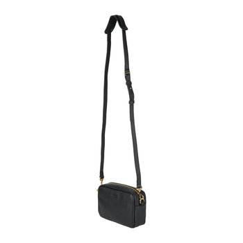 Janey Crossbody Leather Bag - Black