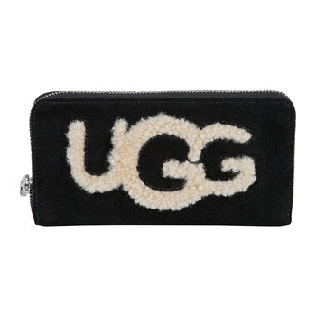 Honey Sheepskin Wallet - Black