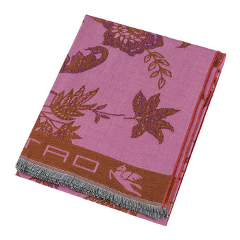 Rhodes Fringed Throw - Pink