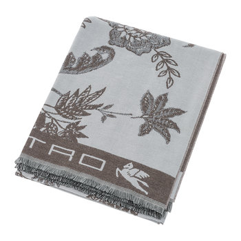 Rhodes Fringed Throw - Beige