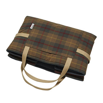 Foldable Travel Dog Bed - Waxed Tartan