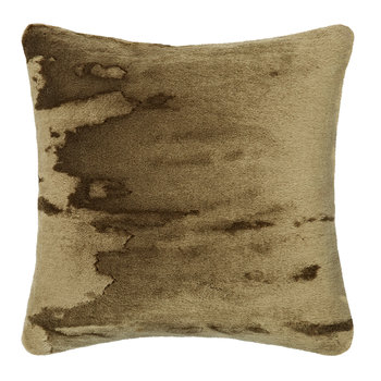 Soft Mohair Velvet Cushion - 45x45cm - Khaki