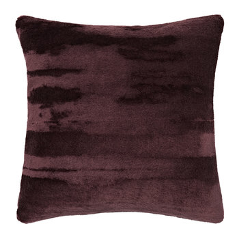Soft Mohair Velvet Cushion - 45x45cm - Wine