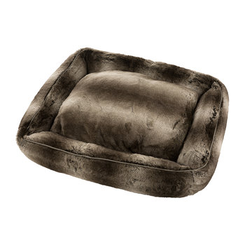 Harvey Faux Fur Pet Bed - Silver Fox