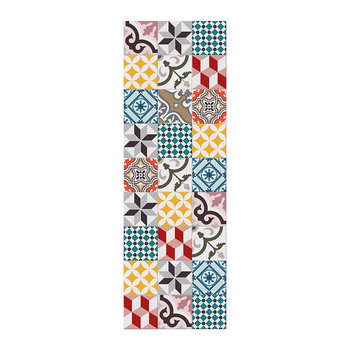 Large Tiles Vinyl Runner - Multi - 66x198cm