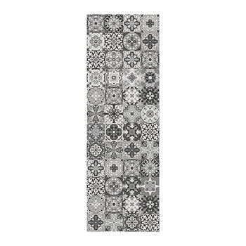Small Tiles Vinyl Runner - Black/White - 66x198cm
