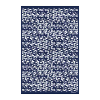 Blue Triangles Vinyl Floor Mat - 99x150cm