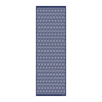 Blue Triangles Vinyl Runner - 66x198cm