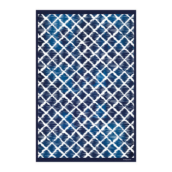 Blue Diamonds Vinyl Floor Mat - 99x150cm