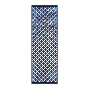 Blue Diamonds Vinyl Runner - 66x198cm