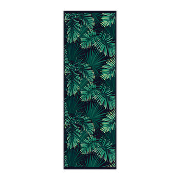 Jungle Vinyl Runner - Black/Green - 66x198cm