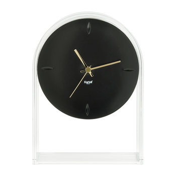 Air Du Temps Clock - Crystal/Black