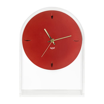 Air Du Temps Clock - Crystal/Red