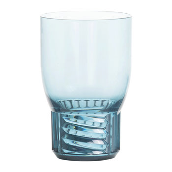 Trama Water Glass - Light Blue