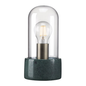 Siv E27 Table Lamp - Domed - Green