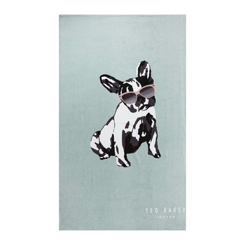 Cotton Dog Beach Towel - Duck Egg