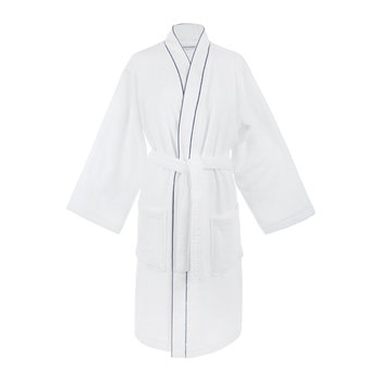 Trace Bathrobe - Cobalt/Black