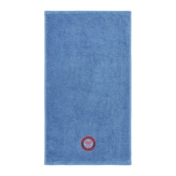 Embroidered Guest Towel 2018 - Cornflower
