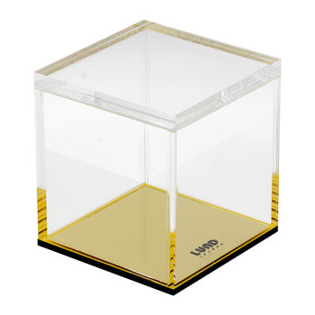 Flash Gold Acrylic Lidded Storage Pot