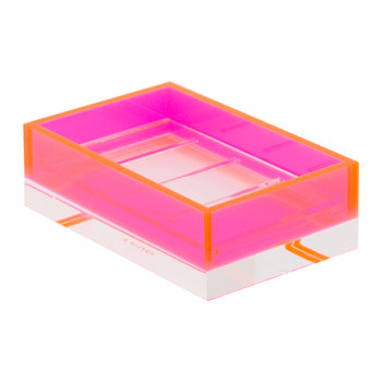 Flash Blocco Acrylic Soap Dish - Pink
