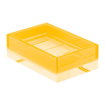 Flash Blocco Acrylic Soap Dish - Orange