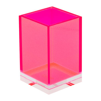 Flash Blocco Acrylic Storage Pot - Pink