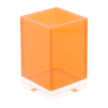 Flash Blocco Acrylic Storage Pot - Orange