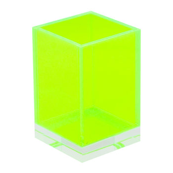 Flash Blocco Acrylic Storage Pot - Green