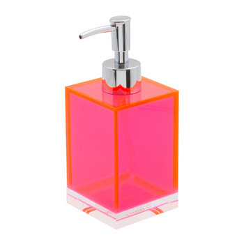 Flash Blocco Acrylic Soap Dispenser - Pink
