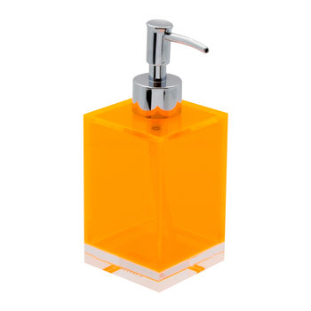 Flash Blocco Acrylic Soap Dispenser - Orange