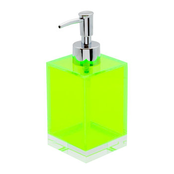 Flash Blocco Acrylic Soap Dispenser - Green