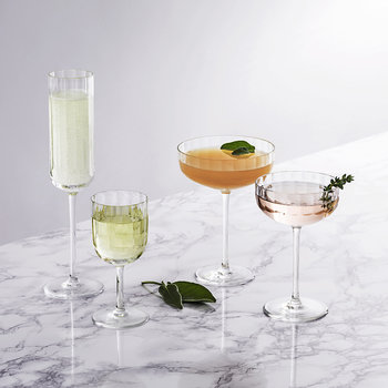 Fluted Cocktail Glass