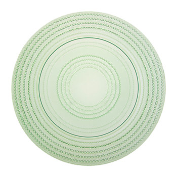 Pois Glass Dessert Plates - Set of 6 - Green