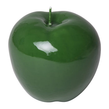 Wax Apple Candle - Shiny Green