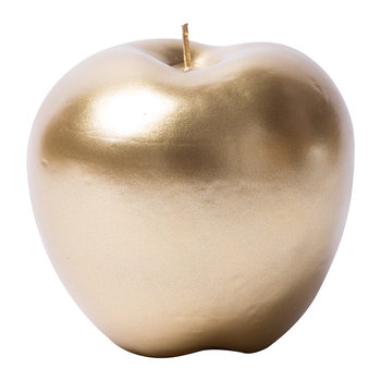 Bougie Pomme Cire - Or Mat