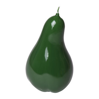 Wax Pear Candle - Shiny Green