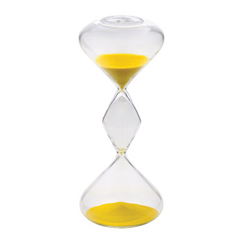 Hourglass Sand Timer - 30 Minutes - Yellow