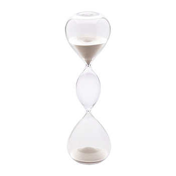 Hourglass Sand Timer - 60 Minutes - White