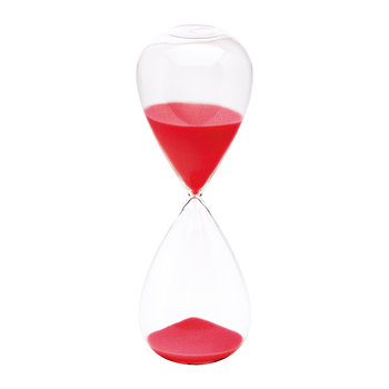 Hourglass Sand Timer - 60 Minutes - Red