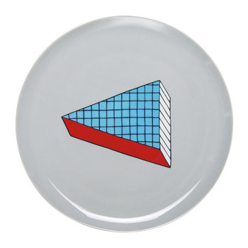 Rio Pizza Plate - Blue/Red Squares