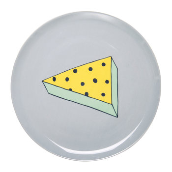 Rio Pizza Plate - Yellow/Blue Dots