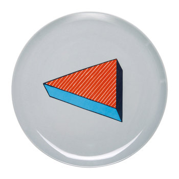 Rio Pizza Plate - Red/White Thin Line