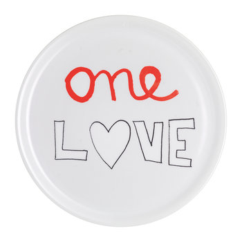 SMS Pizza Plate - One Love