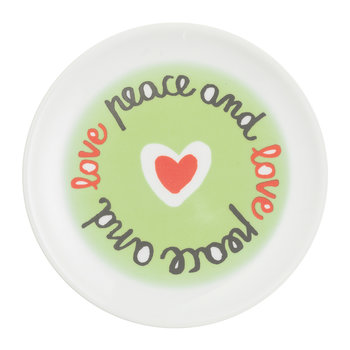 SMS Dessert Plate - Peace And Love